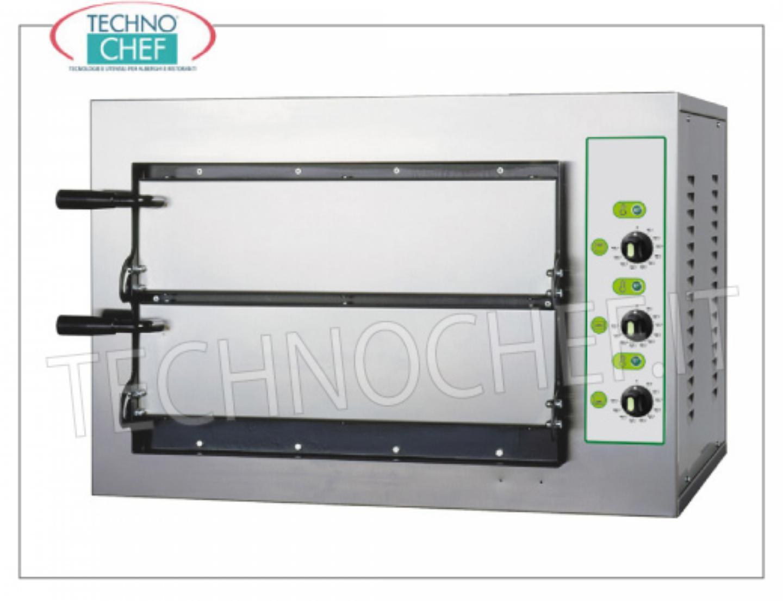 Technochef horno el ctrico de pizza 2 c maras de 500x500 for Hornos domesticos electricos