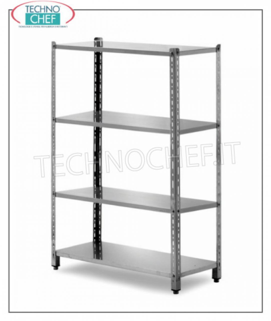 Scaffali componibili in acciaio inox scaffalature per for Scaffali per dispensa