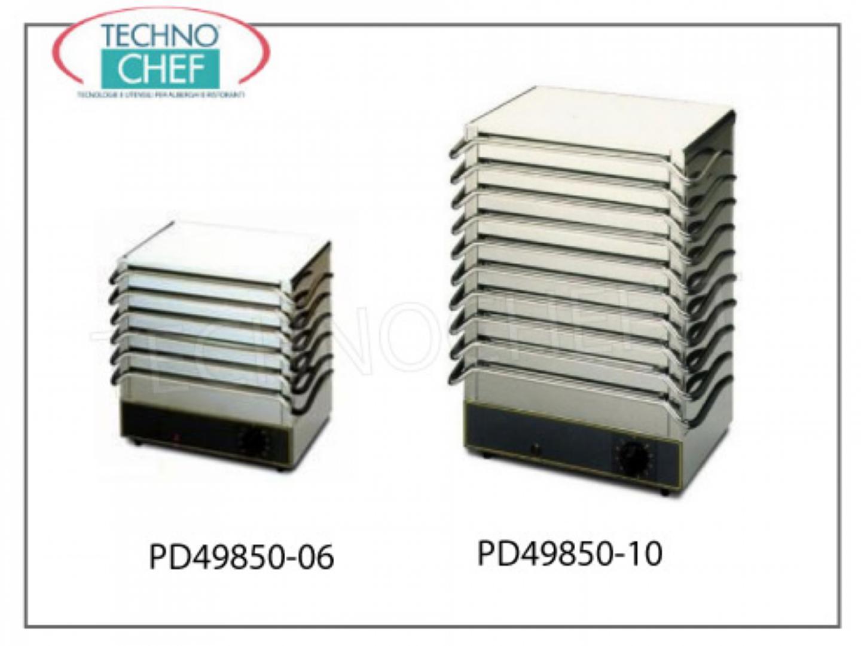 Piastra scaldapiatti in acciaio inox capacit 6 o 10 piastre attrezzature per la cottura - Piastra in acciaio inox per cucinare ...
