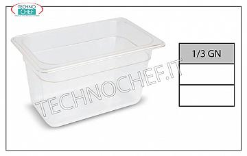 Bacinelle Gastronorm GN 1/3 in polipropilene Contenitore gastro-norm 1/3, in polipropilene, dim.mm.325 x 175 x 65 h