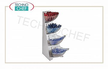 Espositore per buffet Multi Dispenser 4 Piani